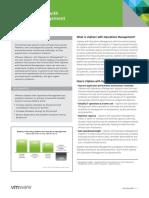VSphere Operations Management - Datasheet