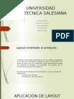 Aplicación de Layout Orientado Al Producto
