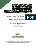 flyer - peace love healing gathering
