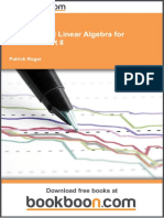 Analysis and Linear Algebra for Finance_ Part II