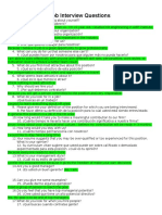 The Job Interview Questions