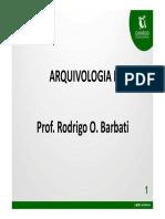 Parte1 - Arquivologia - Prof. Rodrigo Barbati