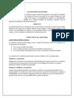 Auditoría Financiera vs. Otros Tipos de Auditoria
