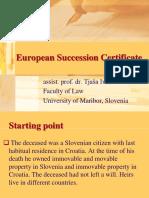 European Succession Certificate