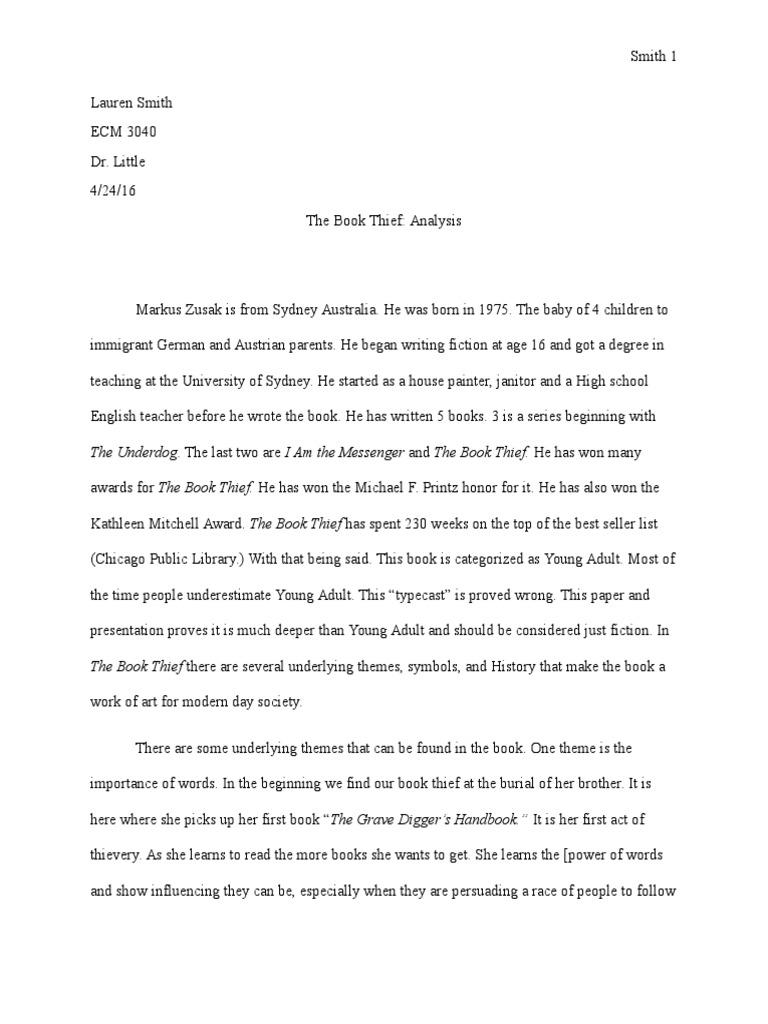 the book thief analysis nazi adolf hitler