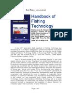 Handbook of Fishing Technology - CIFT Book Release Brochure