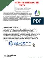 Fabricantes de Asfalto en Peru