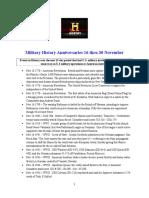Military History Anniversaries 1116 Thru 113016