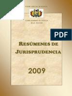 Resumenes de Jurisprudencia 2009 Corte Suprema de Justicia