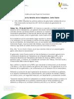 25 04 2011 - El gobernador Javier Duarte de Ochoa recibe en Sala de Banderas a Ricardo Espinoza Cruz y comitiva