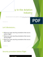 Unit 3 Security in the Aviation Industry Lesson 3 Week 10