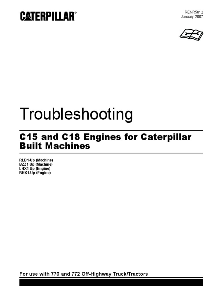 c15 and c18 engines for caterpillar built machines troubleshooting rh scribd com Caterpillar Wiring Schematics Cat C15 Engine Diagram Lifters