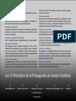 11 Principios de Goebbels