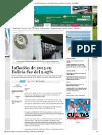 Inflación de 2015 en Bolivia Fue Del 2,95% _ Noticias de Bolivia y El Mundo - EL DEBER