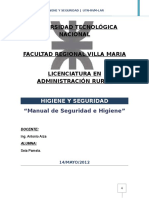 Manual de Higiene y Seguridad