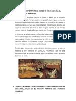 Porque Es Importante El Derecho Romano Para El Derecho Civil Peruano