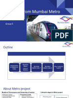 [IDF-Group5] Lessons From Mumbai Metro