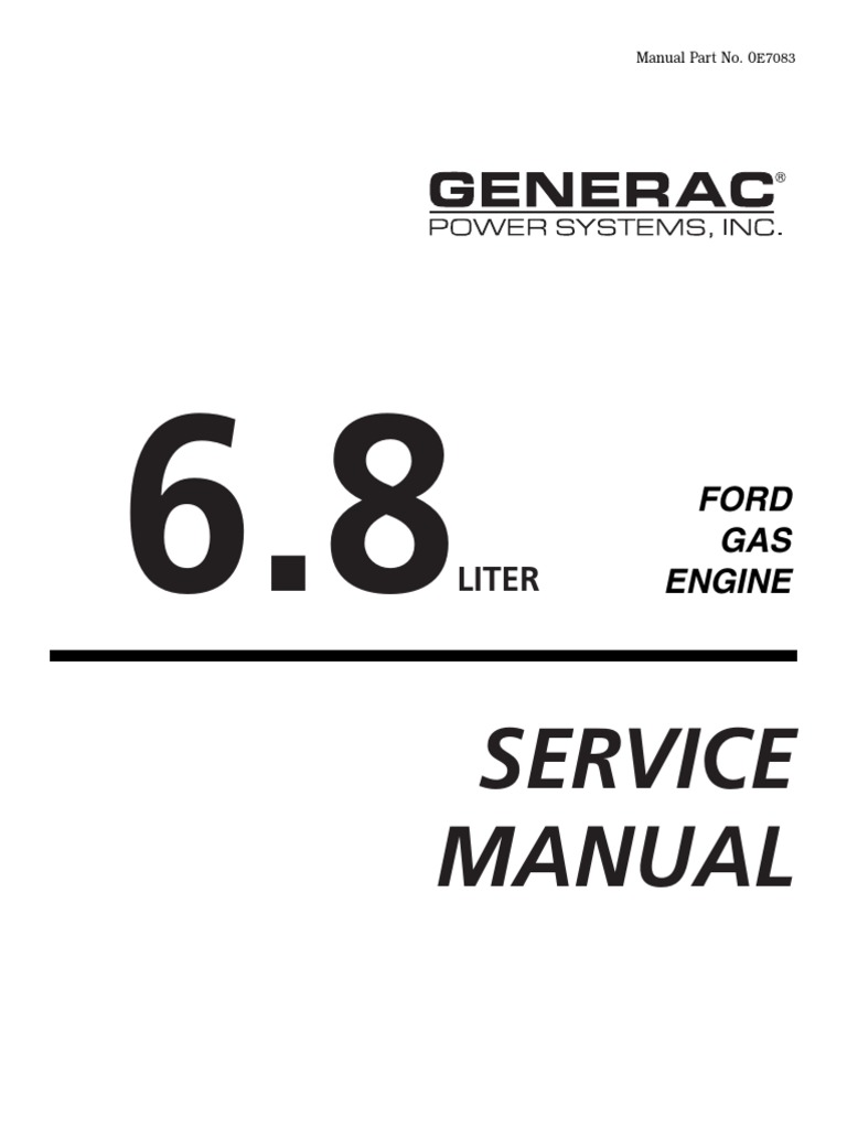 194-323 Ford WSG1068 6.8L Industrial Engine Service Manual