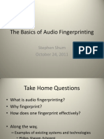 Audio Fingerprinting Sls 24Oct2011
