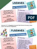 PUBLICACION FUDENMNES VACACIONAL
