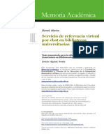 Servicio de Referencia Virtual Por Chat en Bibliotecas