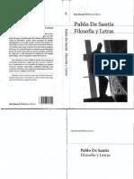 Filosofía y letras. Pablo De Santis