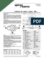 Válvula Mezcladora de Vapor y Agua-Hoja Técnica