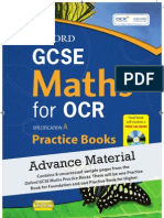 Oxford GCSE Maths for OCR sample Practice Book material