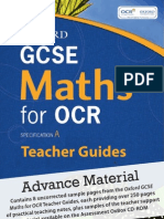 Oxford GCSE Maths for OCR sample Teacher Guide material