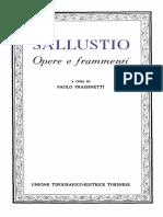Sallustio - Opere e Frammenti