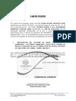 Carta Poder- Recojo de Carta Fianza Psi