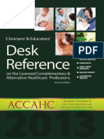 Clinician Desk Reference Alternative Medicine