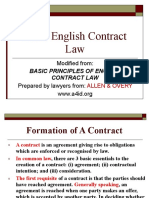 Basic English Contract Law