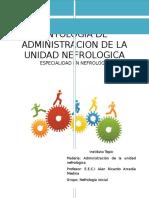 Antologia de Administracion de La Unidad Nefrologica