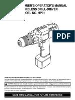 HP61 Cordless Drill Manual