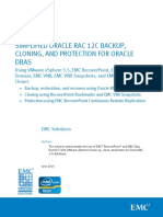 h13139 Simplified Oracle Rac 12c Backup Protect Oracle Wp