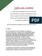 El Caso Iván Leal Suarez