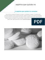 9 Usos de La Aspirina