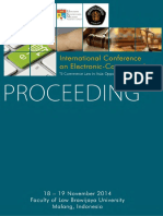 Proceeding International Conference on Electronic Law