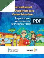 Plan de Emergencias Centros Eduactivos ME