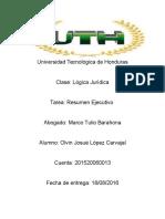 Resumen Ejecutivo de Logica Juridica