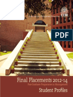 PGP Final Placement Brochure Batch_2012-14