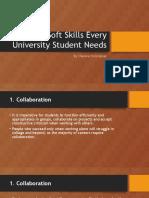 5 Soft Skills Every University Student Needs