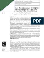 Aertsens 2009 Personal Determinants of ORGANIC FOOD CONSUMPTION