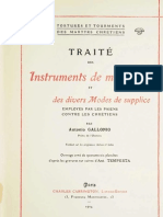 A. Gallonius, Traité des instruments de martyre et des divers modes de supplice..., Paris 1904