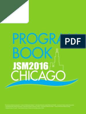 JSM2016-ProgramBook | Sas (Software) | Food And Drug Administration