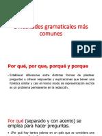 4.2 Dificultades Gramaticales Más Comunes Pp