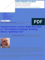 "Theodore Parker Lecture_ Rabbi Brian Walt on ""The Prophetic Challenge_ Breaking Silence, Speaking Tr.pdf"