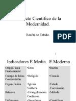 Proyecto Cientifico Modernidad 2013