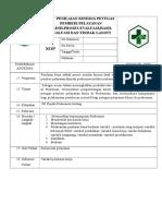 Sop Penilaian Kinerja Petugas Pemberi Pelayanan Klinis Proses Avaluasi Hasil Evaluasi Dan Tl